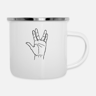 Greeting Alien greeting - Enamel Mug