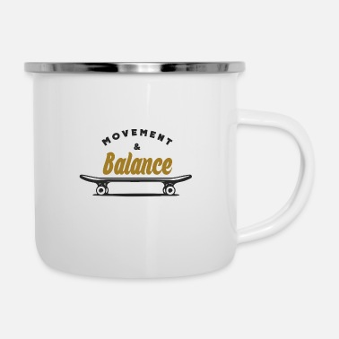 Movement Movement and balance - Emaille-Tasse