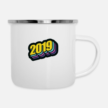 2019 New Year's Eve New Year's gift - Enamel Mug