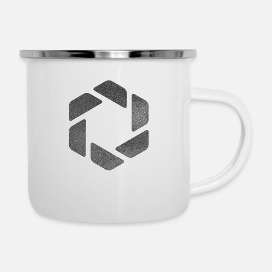 Symbol  Mugs & Drinkware - HEXAGONS SIXTEEN SILVER 17 - Enamel Mug white