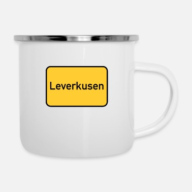 Sign Road sign - Leverkusen - place sign - sign - Enamel Mug