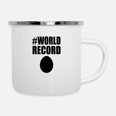 #world record egg Instagram egg trend gift - Enamel Mug