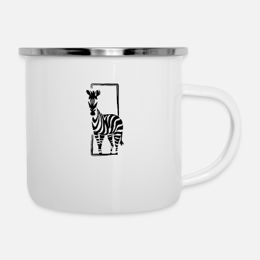 Safari Zebra Safari - Enamel Mug