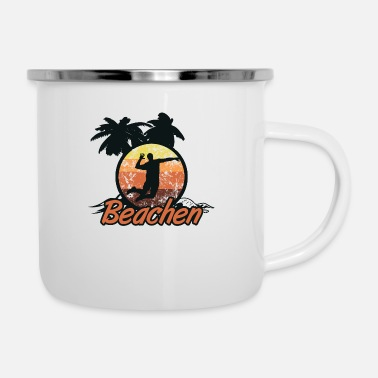 Beach Volleyball beach volleyball - Enamel Mug