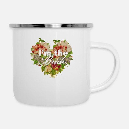 Bride Mugs & Drinkware - I'm The Bride - Enamel Mug white
