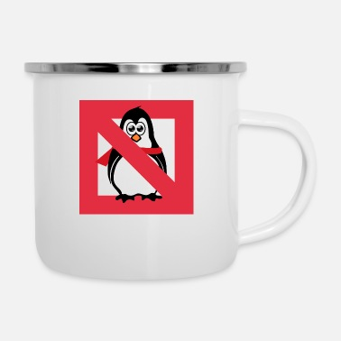 Panneau Dinterdiction Panneau d'interdiction de pingouin - Mug émaillé
