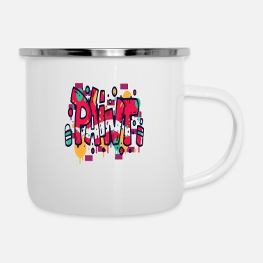 Fake Graffiti Paint - Enamel Mug