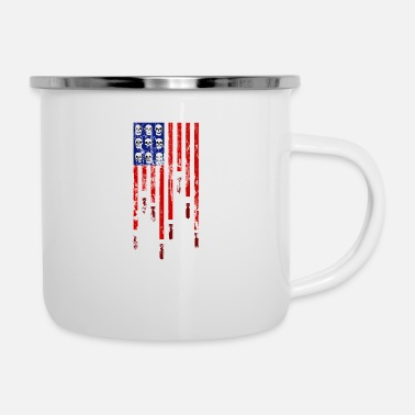 America REAL AMERICA - Emaille-Tasse