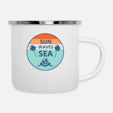 Brilliant Cool Surf Beach Shirt Summer Sun Gift Idea - Enamel Mug