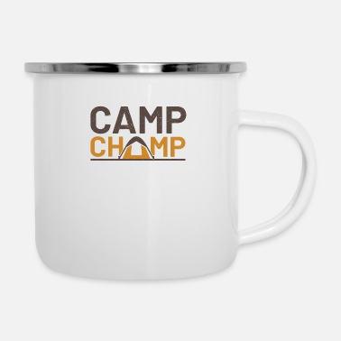 Champ camp champ - Emaille-Tasse