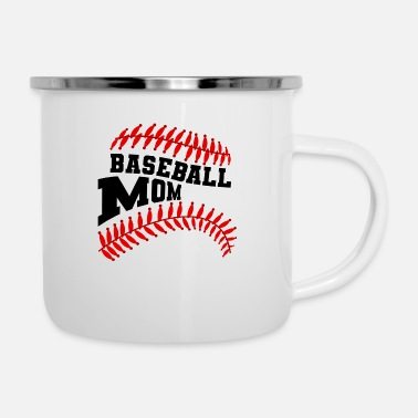 Soccer Ball Baseball Mom - Enamel Mug