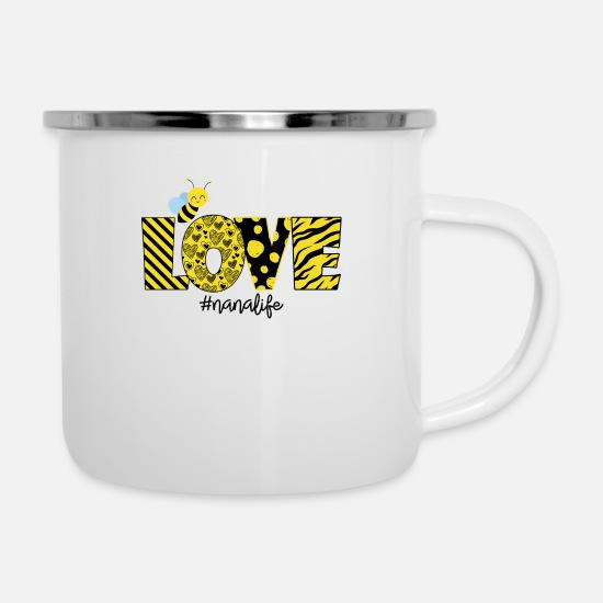 Love Mugs & Drinkware - Love Bee Nanalife - Enamel Mug white