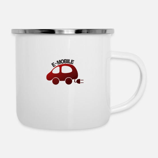 Gift Idea Mugs & Drinkware - E-mobile white souvenir, poison, poison idea - Enamel Mug white