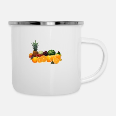 Fruit Fruits fruit fruits design - Enamel Mug