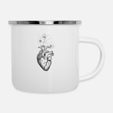 Rudeboy FLOWER MY ANATOMIC HEART TUMBLER SHIRT - Enamel Mug
