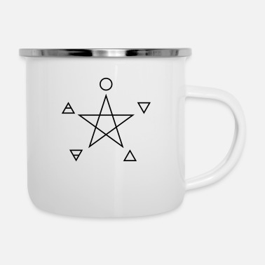Four Elements Pentagram, elements, spirit, magic symbol - Emaljekrus
