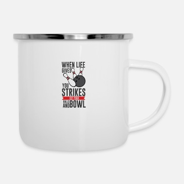 Sparen When Life gives Balls Strike - Emaille-Tasse