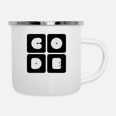 Code code - Emaille-Tasse
