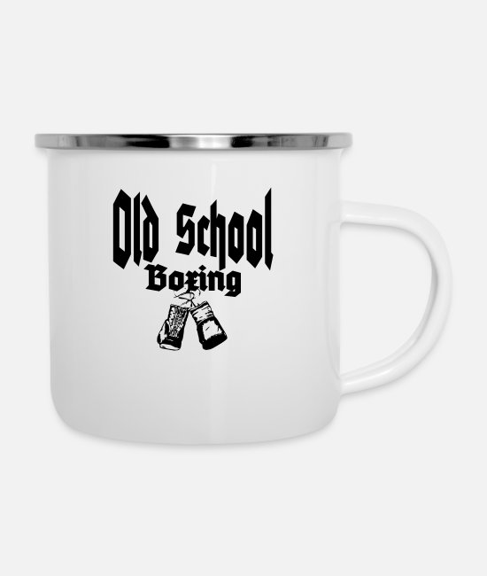 Martial Arts Mugs & Drinkware - Old School Boxing - Enamel Mug white