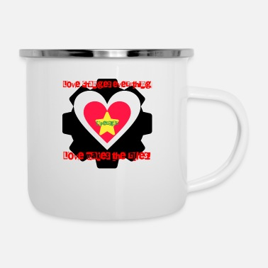 Superstar Superstar - love changes everything and rules - Emaille-Tasse