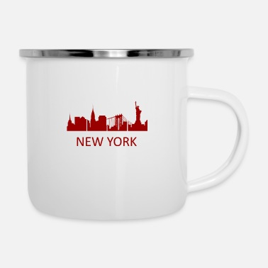 Las Vegas New York Skyline - Premium Design - Emaille-Tasse