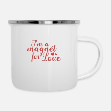 The Magnet Magnet - Love -Gift Idea - Enamel Mug