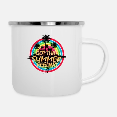 Letter Summer Feeling (Palms) 01 - Enamel Mug
