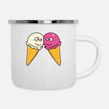 Ice Cream Parlour In love with ice cream - Enamel Mug