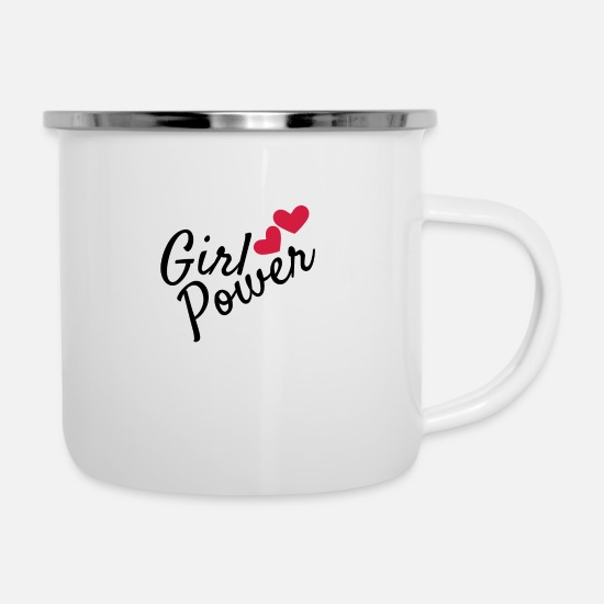 Girl Power Mugs & Drinkware - Girl power - Enamel Mug white