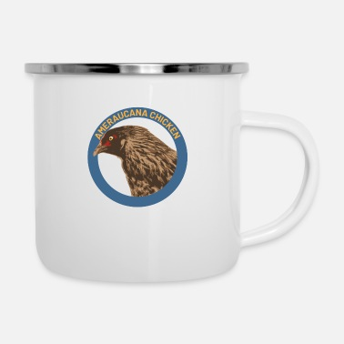 Fried Chicken Ameraucana chicken - Enamel Mug
