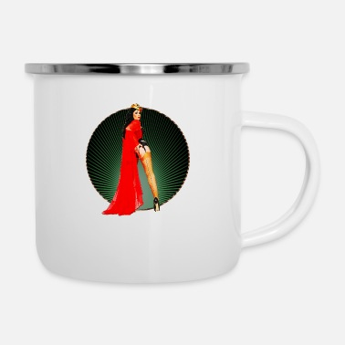 Highheels Pinup your Life - Xarah as Pinupart - Queen - Enamel Mug