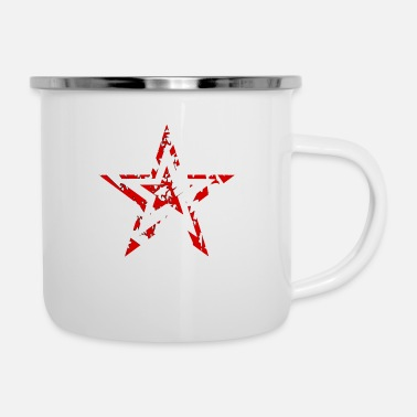 Socialist Star star abstract art symbol sign red - Enamel Mug