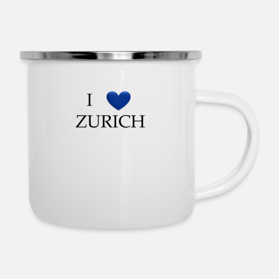 Love Mugs & Drinkware - Zurich - Enamel Mug white
