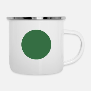 Enviorment green circle - Emaille-Tasse