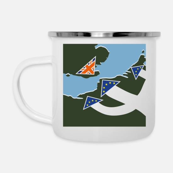Army Mugs & Drinkware - Dad's Army Brexit [square] - Enamel Mug white