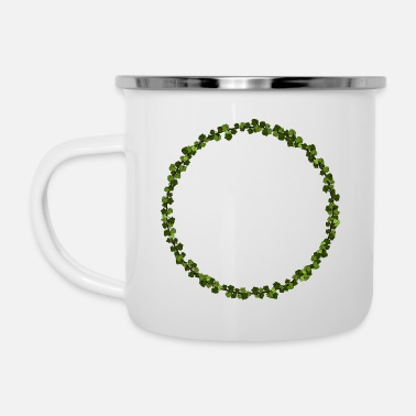 Ivy Circle - Emaille-Tasse
