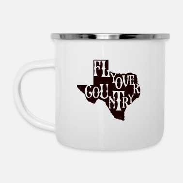 Countrymusic flyover country black - Enamel Mug