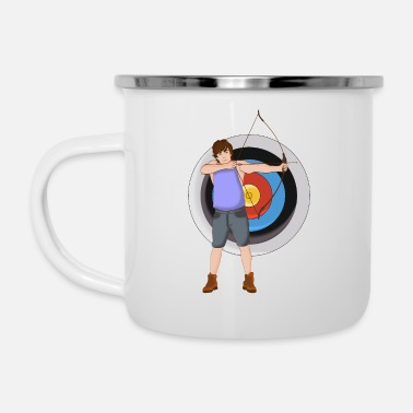 Best Of Archery, archer - Enamel Mug