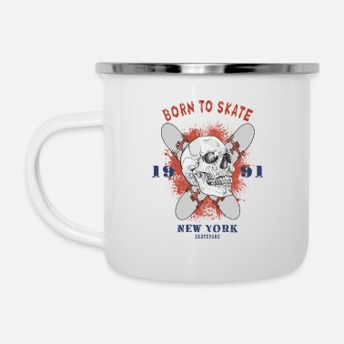 Freestyle Born To Skate - Enamel Mug