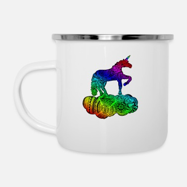Enchanted Unicorn Multicolor - Emaille mok