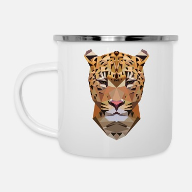 Safari Adoro il leopardo - leopardo - safari - Tazza smaltata