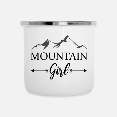 mountain girl berge winter alpen - Emaille-Tasse