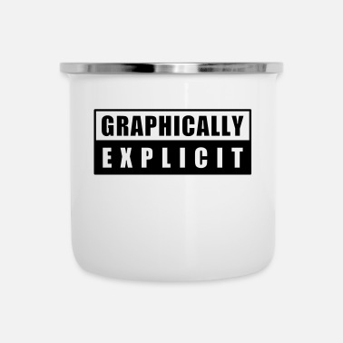 Word Comedy Party graphically explicit - Enamel Mug