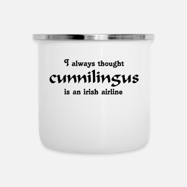 Airline cunnilingus - Emaille-Tasse