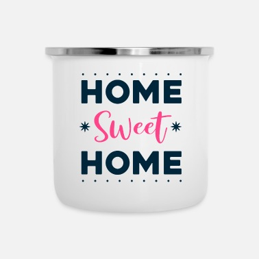 Big Offerte - home sweet home - helder - Emaille mok