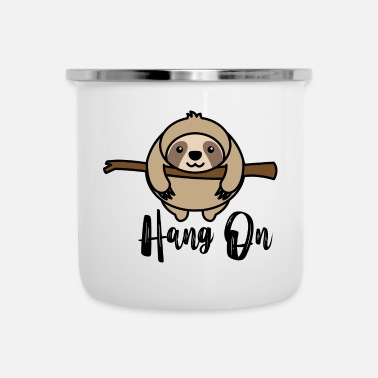 Hang Hang on - Enamel Mug