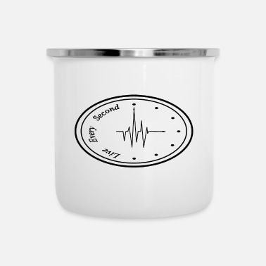 Clock Heartbeat Clock - Emaille mok
