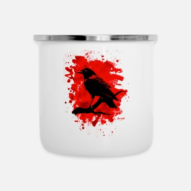 Crow Metal Crow bleached red - Emaille-Tasse