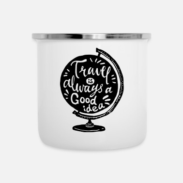 Travel Travel is always a good idea (black) - Enamel Mug