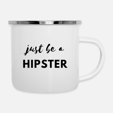 Hipster Schrijf een Hipster! - Emaille mok
